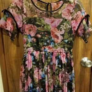 JUSTICE FLOWERED DRESS